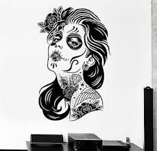 Wall Stickers Vinyl Decal Super Sexy Girl Zombie Vampire Tattoo Decor Z2394 Ebay