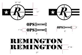 Buy Today Remington Edition Die Cut Vinyl Truck Decals Black Finish Hpd Wheels