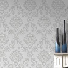 Aurora White and Silver Wallpaper | Graham & Brown