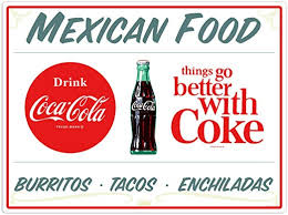 Amazon Com Coca Cola Mexican Food Burritos Wall Decal 24 X 18 Restaurant Decor Home Kitchen