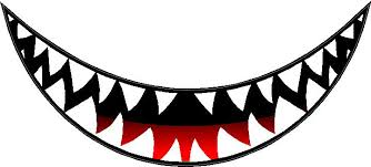 Shark Teeth Decal Sticker 17