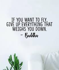 Buddha If You Want To Fly Quote Wall Decal Sticker Bedroom Room Art Vi Boop Decals