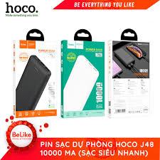 kiểm tra hàng ,test thử hàng trước khi thanh toán} Sạc dự phòng Hoco J48  10000 mAh- hàng bảo hành chính hãng 12 tháng