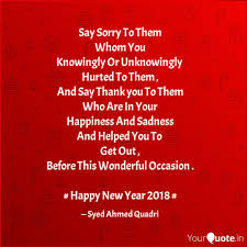 say sorry to them whom yo quotes writings by syed ahmed
