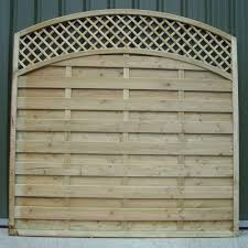 Arched Lattice Top Fence Panels Crestala Fencing Centre