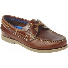 womens high grade leather boat shoe