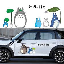 Creative Car Styling Stickers Cartoon Funny My Neighbor Totoro Car Decorative Decals Car Body Windshield Stickers Car Stickers Aliexpress