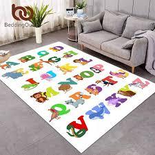 Beddingoutlet Abc Alphabet Carpet For Living Room Learning Letter Kids Baby Play Floor Mat Funny Cartoon Animal Bedroom Area Rug Carpet Aliexpress