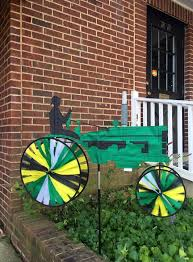 green tractor s by bald eagle flag