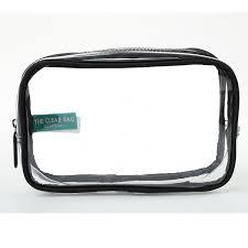 clear plastic travel makeup bag