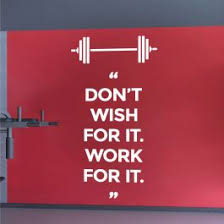 Wall Designer Don T Wish For It Work For It Gym Motivational Quote Decal Wall Sticker