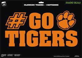 Clemson Tigers Gotigers Paw University Acc Champions Decal Vinyl Sticker Car Truck Laptop Suv Window Clemson Car Stickers Vinyl Sticker