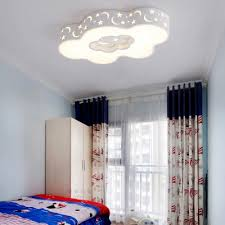 Modern Led Round Star Cloud Shade Kids Room Ceiling Light Ultra Thick Beautifulhalo Com