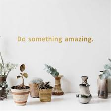 Black Gold Inspirational Quote Decal Do Something Amazing Over The Door Vinyl Wall Decal Sticker Art Aliexpress