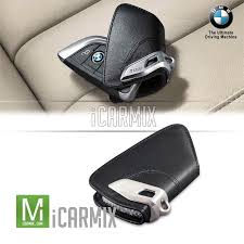 genuine oem leather key fob holder case