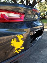 My Chocobo Decal Finally Came In For My Car Ffxv