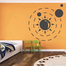 Solar System Galaxy Planets Wall Stickers Bedroom Space Wall Decals Baby Room Home Decoration Accessories For Living Room Wall Stickers For Sale Wall Stickers For The Home From Joystickers 13 56 Dhgate Com