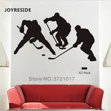 Joyreside Sport Hockey Wall Decal Hockey Players Wall Sticker Sports Vinyl Decal Home Playroom Decor Interior Design Mural A748 Wall Stickers Aliexpress