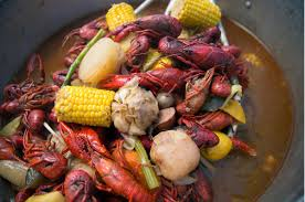 crawfish boils down ...