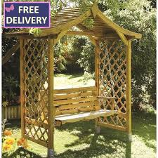 dartmouth arbour with swing seat the