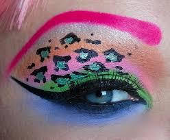 print eye makeup look
