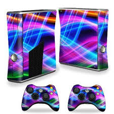 Protective Vinyl Skin Decal Cover For Microsoft Xbox 360 S Slim 2 Controller Skins Sticker Skins Light Waves 14 9 Xbox 360 Console Iphone Games Xbox Console