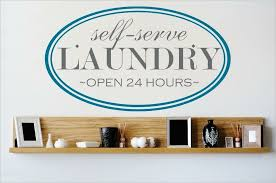 Design With Vinyl Self Serve Laundry Open 24 Hours Wall Decal Wayfair