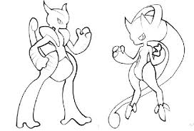 Pokemon Coloring Pages Mega Mewtwo