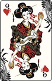 Amazon Com Oriental Style Queen Of Hearts Playing Card Red Black Gold White Vinyl Decal Sticker Two In One Pack 4 Inches Tall Arts Crafts Sewing