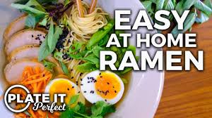easy homemade ramen bowl plate it