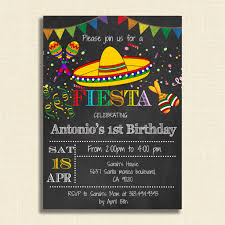Printable Mexican Fiesta Party Invitations Diy Party Invitation