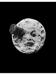 """EARLY CINEMA. A Trip to the Moon. By Georges Melies. 1902."""" Art Board Print  by TOMSREDBUBBLE 