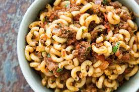 hamburger and macaroni family fave