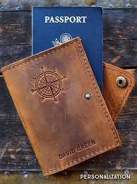 full grain leather passport covers