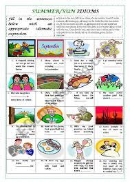 summer sun idioms with key esl