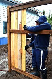 Build A Cedar Fence Free And Easy Diy Project And Furniture Plans Diy Fence Diy Privacy Fence Cheap Privacy Fence