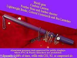 mardi gras bra boa bead launcher
