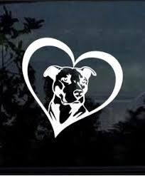 Pitbull Heart Decal Sticker Midwest Sticker Shop
