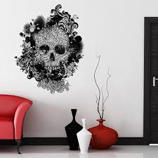 Let S Face It Skulls Have Always Been Trendy Whether Its Damian Hurst Covering Them With Diamonds Indiana Jones Hu Wall Sticker Skull Decor Quirky Homeware