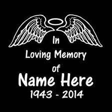In Loving Memory Vinyl Decal Stickers Angel Wings Halo Sticker Flare Llc