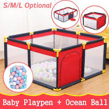 Baby Playpen Portable Plastic Fencing For Children Folding Safety Fence Barriers For Ball Pool Child Buy At A Low Prices On Joom E Commerce Platform