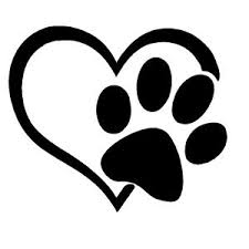 Puppy I Love My Dog Paw Print Heart Window Sticker Vinyl Decal Ebay