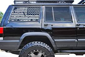 Amazon Com Skull Daddy Graphics Xj Window Usa Distressed Flag Decals Stickers To Fit Jeep Cherokee 1987 2001 Passenger Side White Automotive