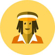 rasta man free icon of kameleon yellow