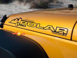 Product Pair Jeep Decal Polar Vortex Wrangler Hood Decal Rubicon Sahara Jk Cj Tj Yj