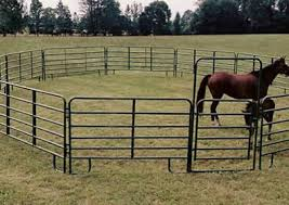 Horse Corral Panels With Galvanized Round Square And Oval Pipe