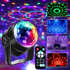 Amazon Com Disco Ball Lights Stage Lights Superanl Led Rgb Party Lights Strobe Light Dance Light Multiple Voice Activated Modes For Kids Parties Bedroom Birthday With Remote Home Improvement