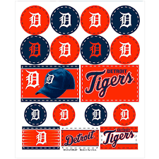 Detroit Tigers Stickers 1 Sheet Party City