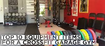 crossfit equipments for your garage gym
