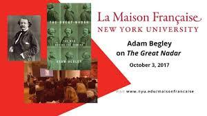 Adam Begley on The Great Nadar - YouTube